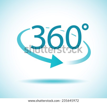 360 degres icon - stock vector