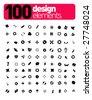 100 DESIGN ELEMENTS !!!!! - stock vector