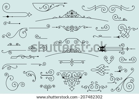 36 design elements - stock vector