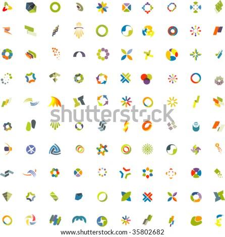 100 Design elements - stock vector