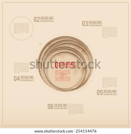 Design template. Paper hole. Circle cutouts. - stock vector