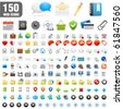 150 detailed icons. Vector Illustration - stock vector