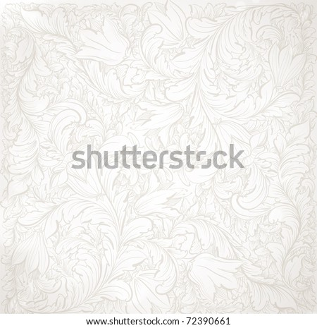 Detailed Vector Background with antique and baroque flowers. For spring and summer design. - stock vector