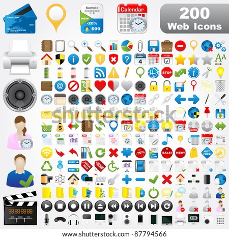 200 Detailed Web Icons