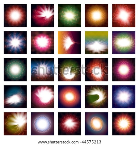 25 different abstract vector backgrounds. - stock vector
