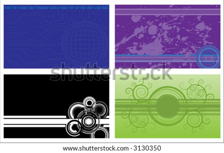 4 different backgrounds - stock vector