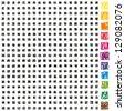 399 different scribble pixels elements - stock vector