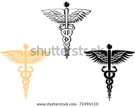 3 different style of medical symbol - stock vector