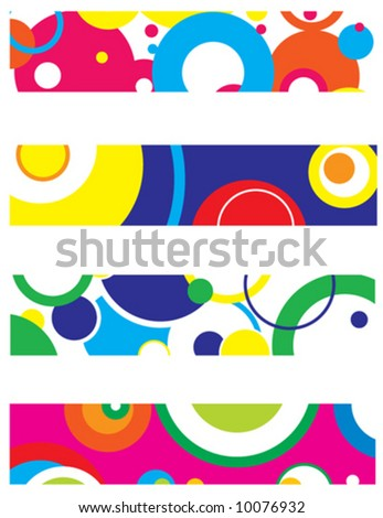 4 different vector banners