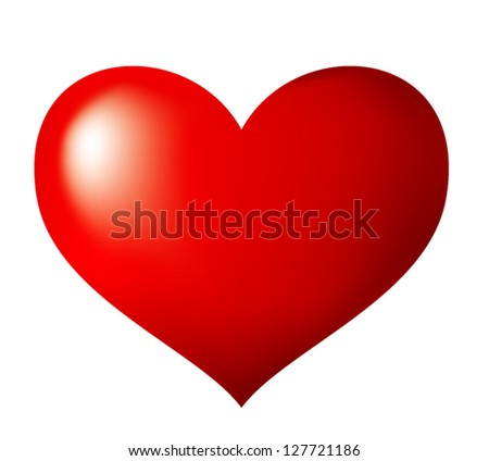 3 Dimensional Heart - stock vector