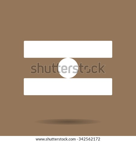 dis-balance  - stock vector