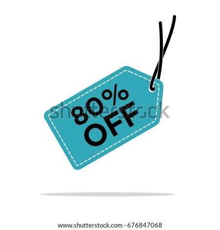 Discount Hang Tag Vector Template Stock Vector