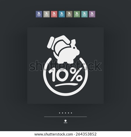 10% Discount label icon - stock vector