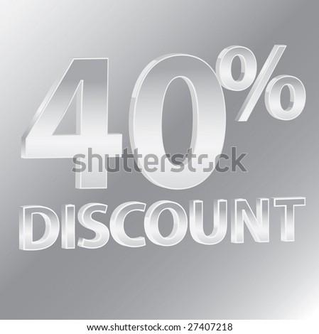 40% Discounts / vector - stock vector