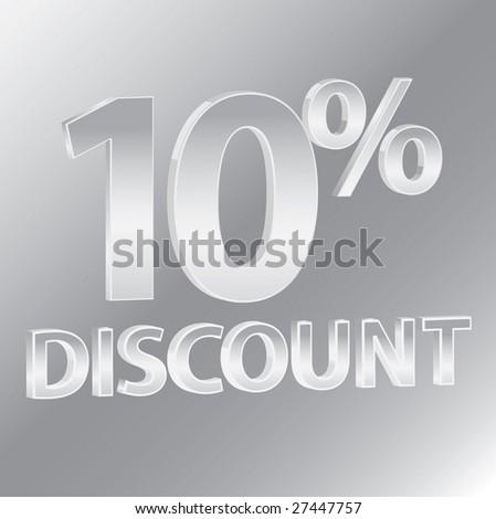 10% Discounts / vector - stock vector