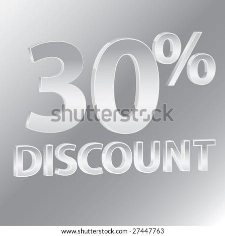30% Discounts / vector - stock vector
