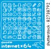 64 doodle series |  internet icon set - stock vector