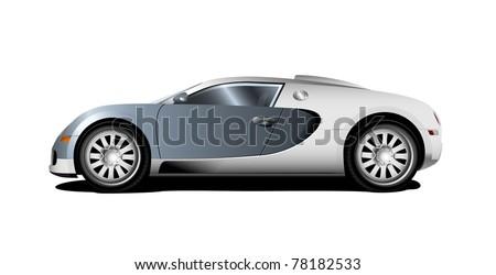 2 door coupe sports car eps8 - stock vector