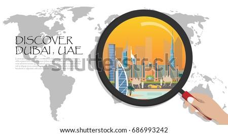 Dubai infographic united arab emirates infographic stock vector dubai infographic united arab emirates infographic travel to dubai presentation template world map gumiabroncs Gallery