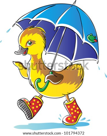 Duckling - stock vector