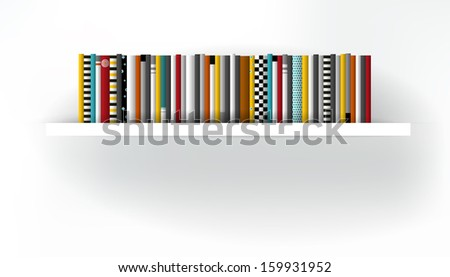 DVD shelf. Furniture background. Vector illustration. Art background. - stock vector