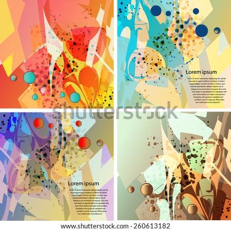 Dynamic background set for design - stock vector
