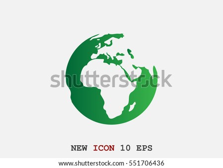 Earth icon Flat.