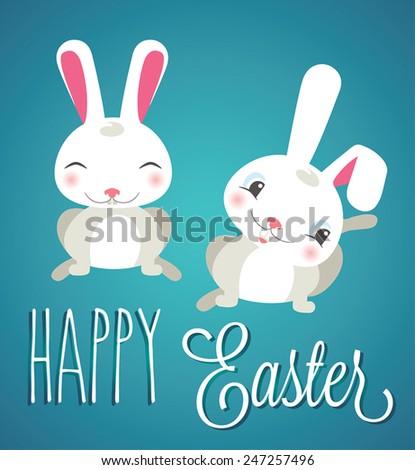 Easter Bunny Vector. Happy Easter. - stock vector