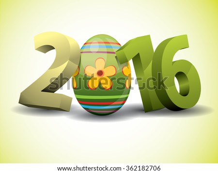 2016 Easter - 3d Text with Easter Egg