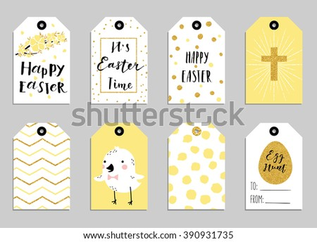 8 easter gift tags cute easter stock vector 390931735 shutterstock 8 easter gift tags with cute easter bunny watering can with flowers and easter greetings negle Image collections