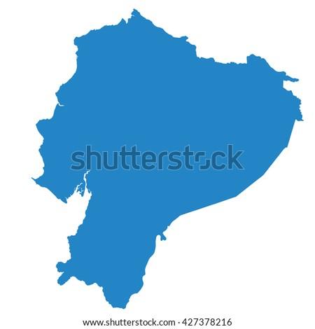 Ecuador map - stock vector