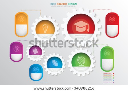 Education info graphic design.clean vector