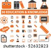 30 education & knowledge signs. vector - stock vector