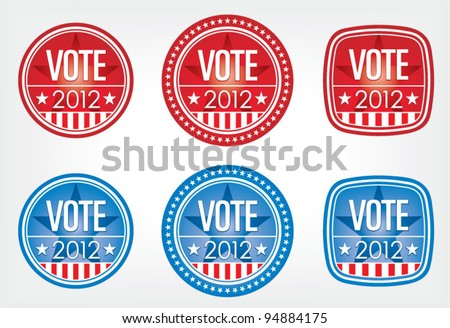 2012 Election Buttons Set