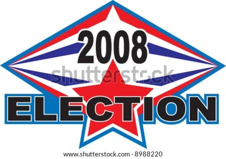 2008 election vector logo illustration - stock vector