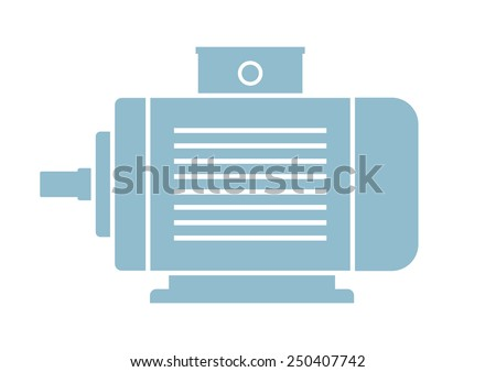 Electric motor icon on white background - stock vector