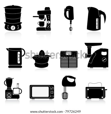 electronic equipment - stock vector