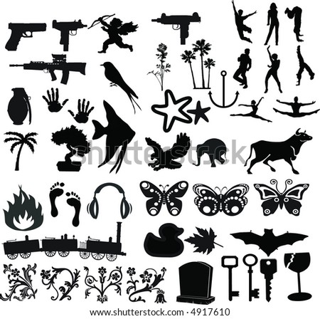 48 elements graphic - stock vector