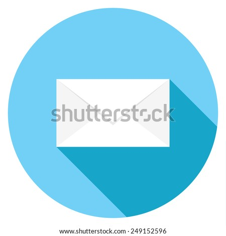Email message flat icon. Modern flat icons with long shadow effect in stylish colors. Icons for Web and Mobile Application. EPS 10. - stock vector