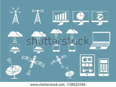 [EPS10] Vector Set: Graphic Icons set: Technology - stock vector