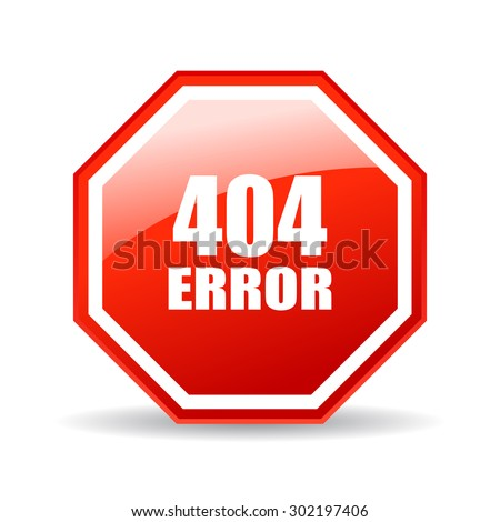 404 error glass icon - stock vector