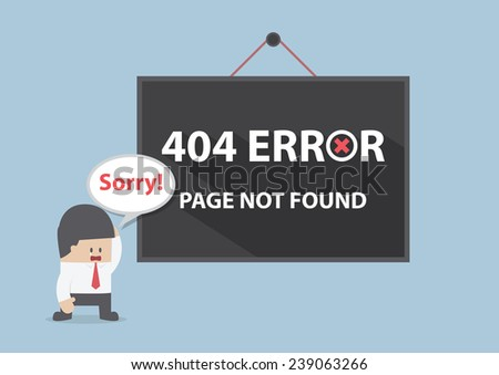 404 error, Page not found, VECTOR, EPS10 - stock vector