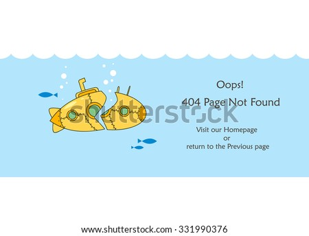 404 not found html template - 404 error page vector template for website broken yellow