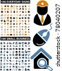 200 everyday & small business icons, signs, vector illustrations - stock vector