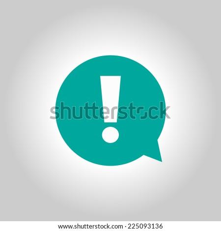 Exclamation mark.  Exclamation mark. Hazard warning symbol. Flat design style. Vector EPS 10. - stock vector