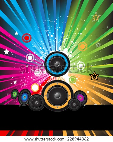 Explosion of colors background for your party flayers, posters or brochure backgrounds