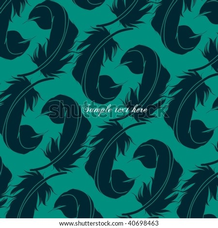 Feather Set - stock vector