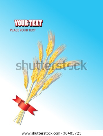 field with ribbon - stock vector