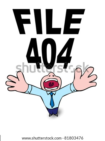 404 file not found - stock vector