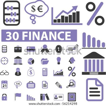 30 finance elements. vector - stock vector